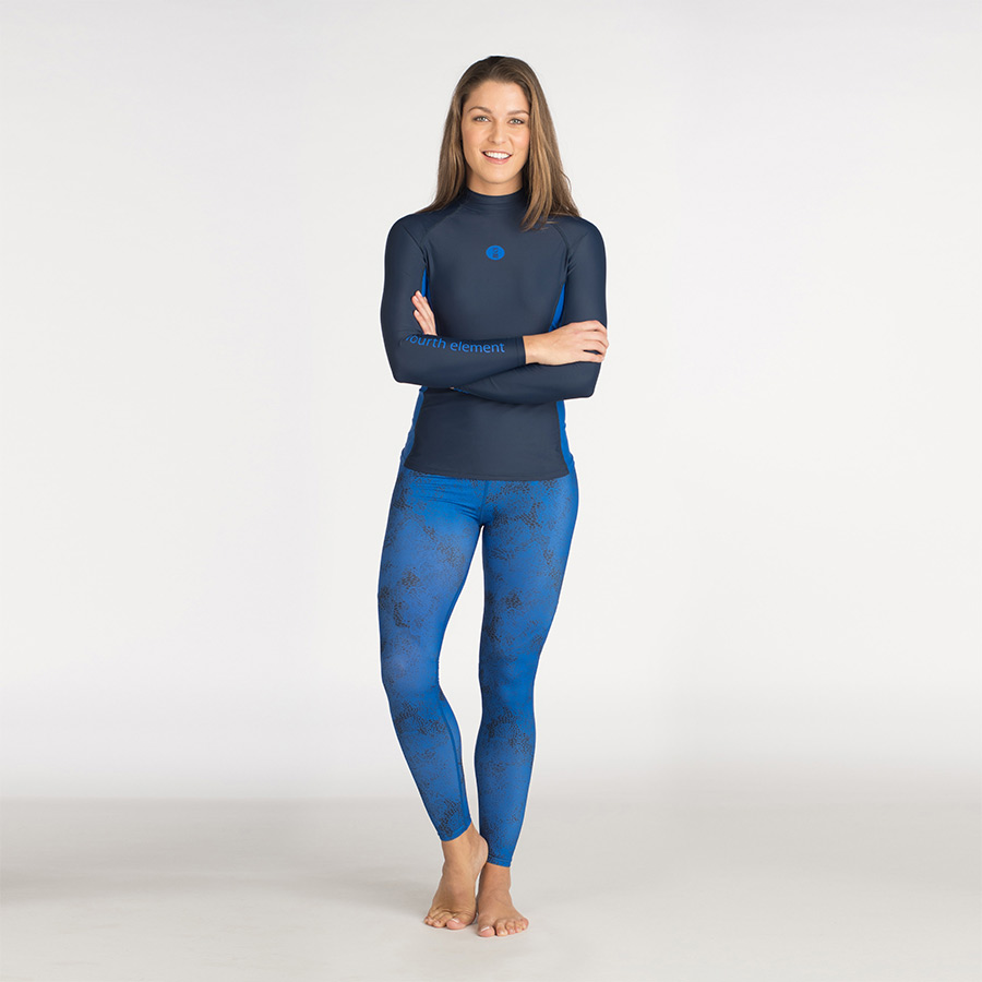Hydroskin and leggings blue