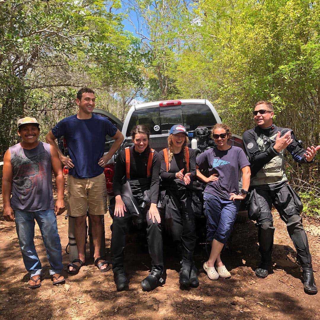 Team at Tortuga Cave
