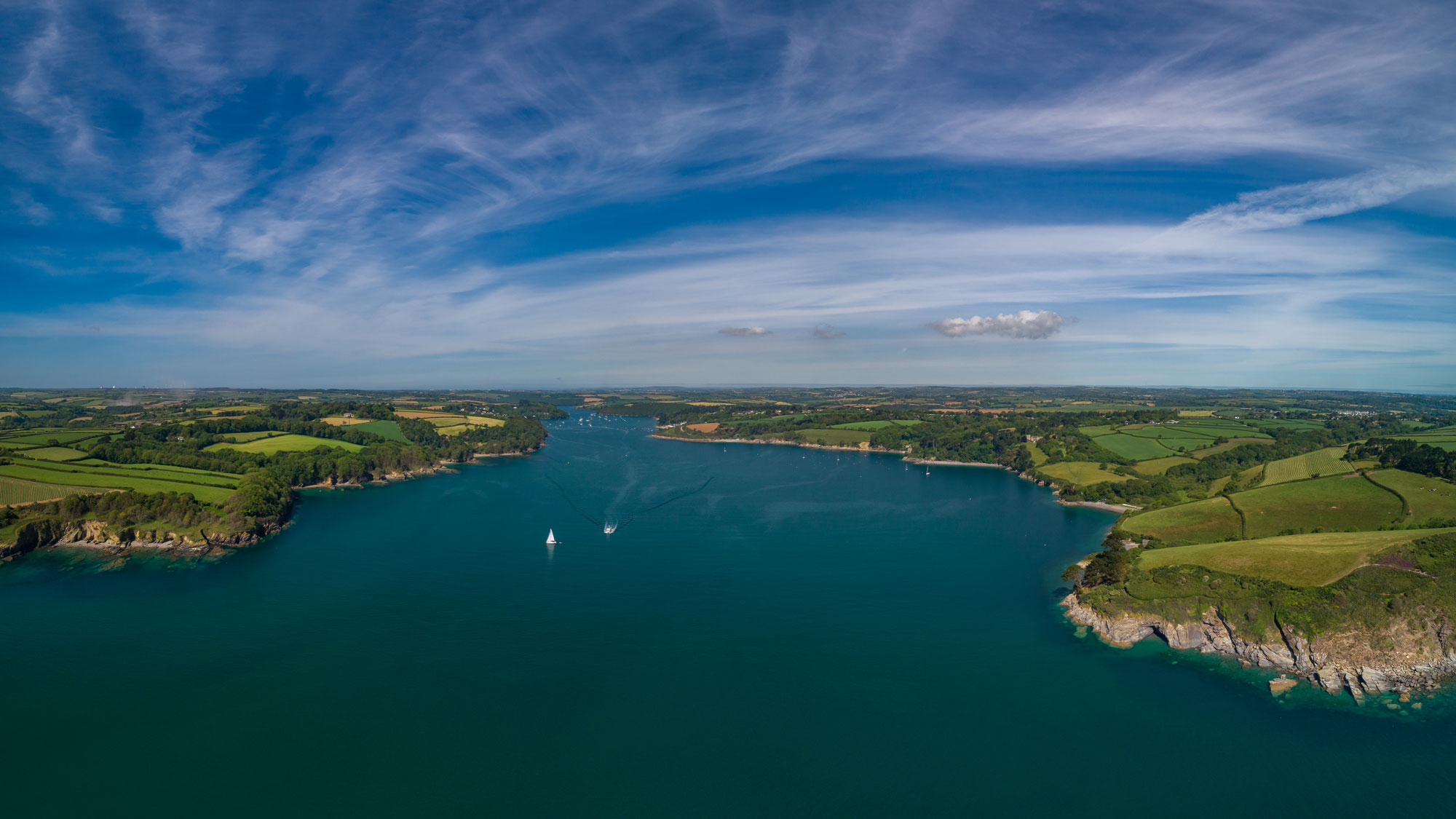 Helford River, Swimming, Open water, wild, ocean, river, cold water